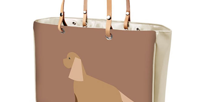 Large Tote Bag - Cheeky Cockers