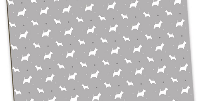 Grey Large Placemat Set (4) - Wonderful Westies