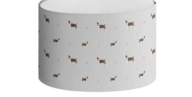 Grey Oval Lampshade - Busy Beagles