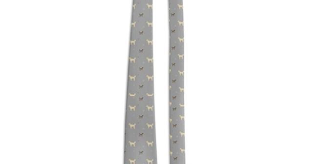 Grey Multi Tie - Dandy Doodles