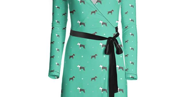 Multi Print Wrap Dress - Sassy Staffies