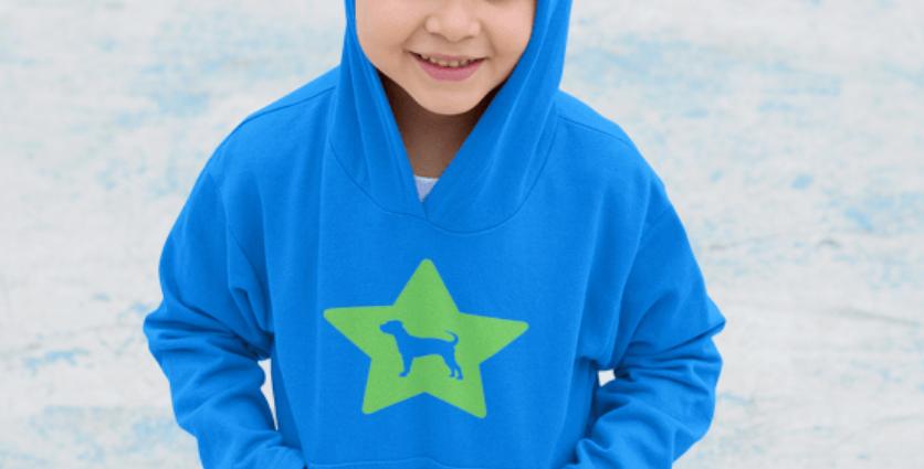 KIDS Bright Star Blue Hoodie - ANY BREED
