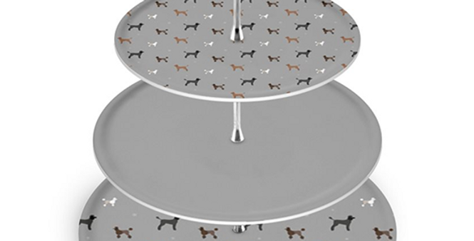 Cake Stand - Poodles