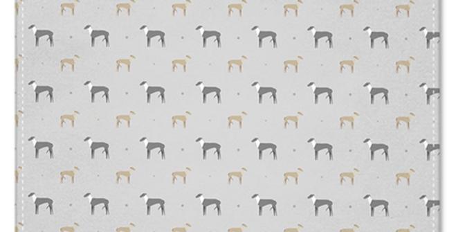 Grey Multi Pocket Squares (2) - Graceful Greyhounds