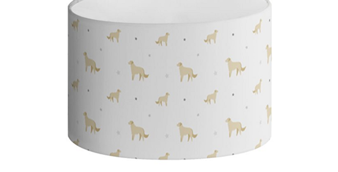 Grey Oval Lampshade - Goldens Galore
