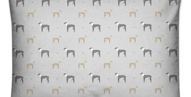 Large Rectangular Cushion - Graceful Greyhounds