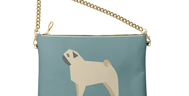Colour Pop Leather Bag - Perfectly Pug