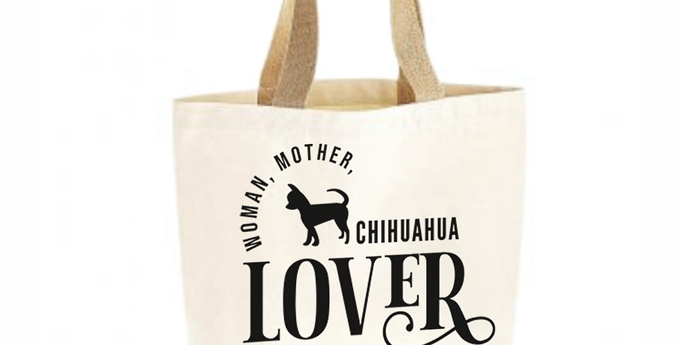Classic Jute & Canvas Chihuahua Shopper