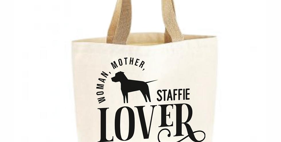 Classic Jute & Canvas Staffie Shopper