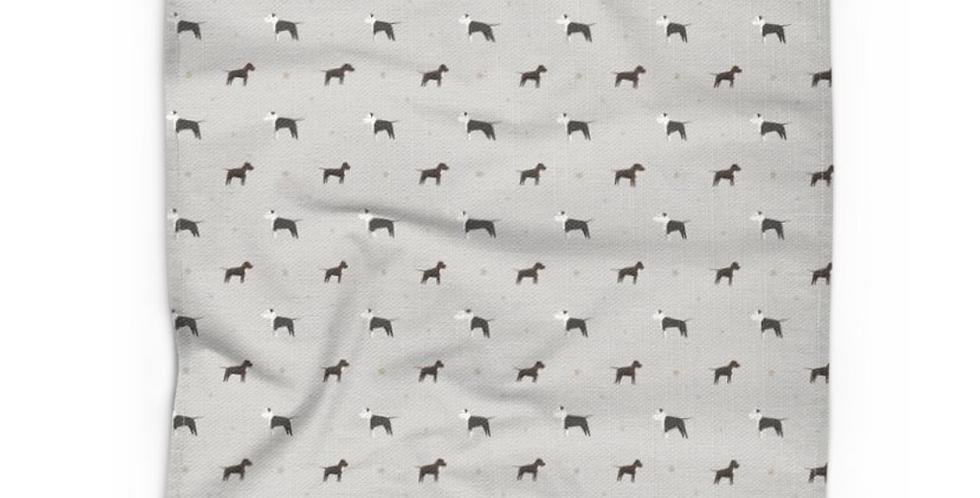 Grey Cotton Linen Tea Towel - Sassy Staffies