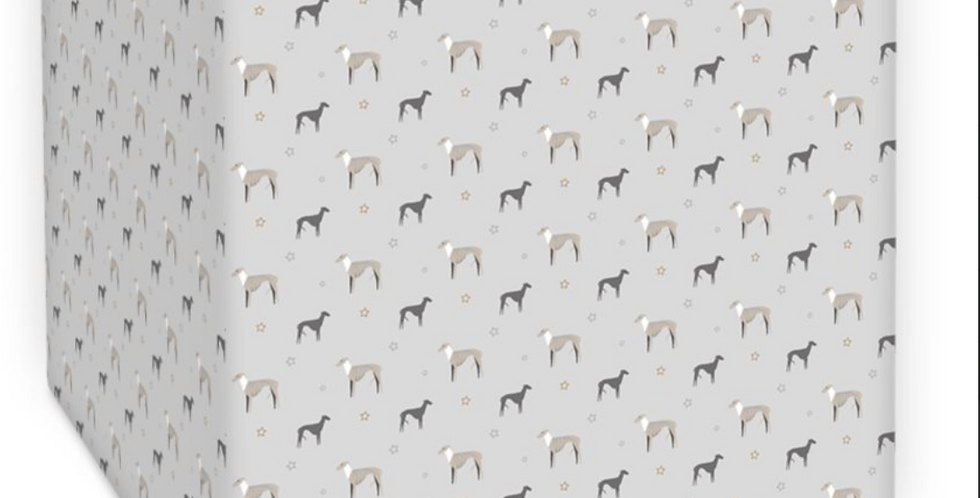 Grey Square Ceiling shade - Whimsical Whippets