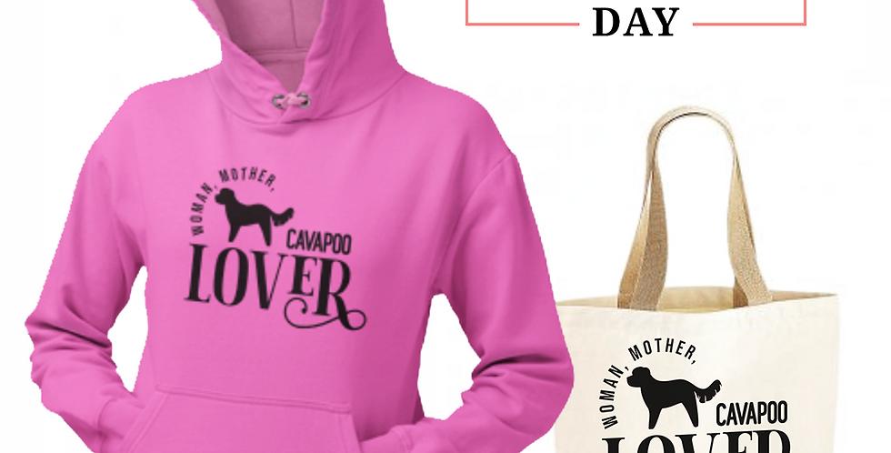 Cavapoo Lover - Shopper & Hoodie Bundle