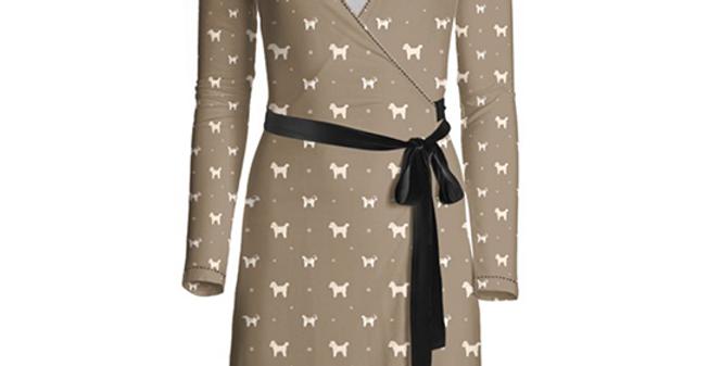 Multi Print Wrap Dress - Cuddly Cavachons