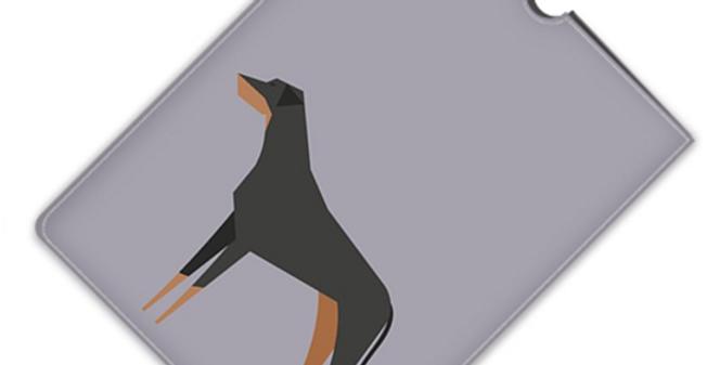 Leather iPad Case (Mini) - Dazzling Dobermans