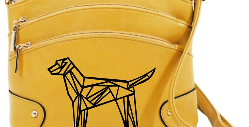 Geo Dog Crossbody Bag - Mustard