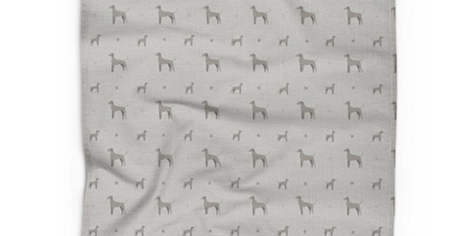 Cotton Linen Tea Towel - Valiant Weimaraners