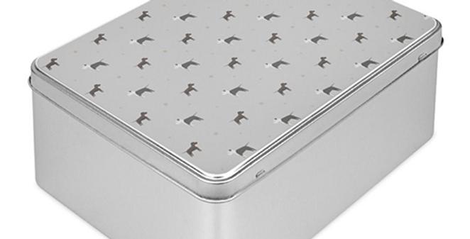 Grey Storage Tin - Sassy Staffies