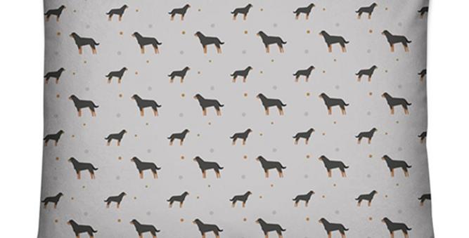 Grey Dog Bed Cushion - Rock n Roll Rotties