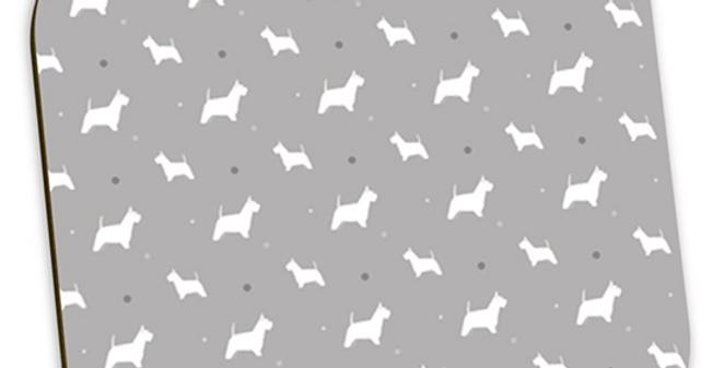 Grey Coaster Set (4) - Wonderful Westies