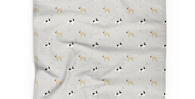 Cotton Linen Tea Towel - Fancy Frenchies