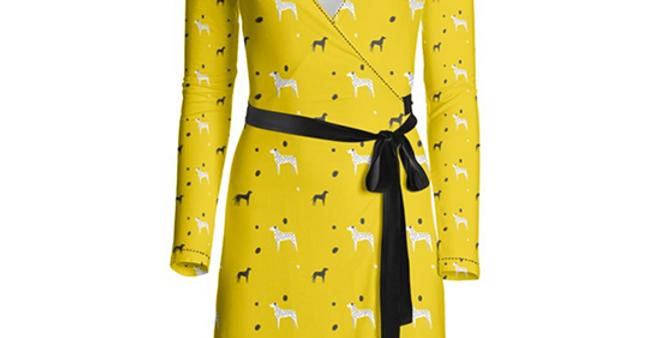 Multi Print Wrap Dress - Dotty Dallies