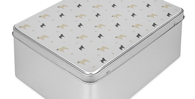 Grey Storage Tin - Perfectly Pug