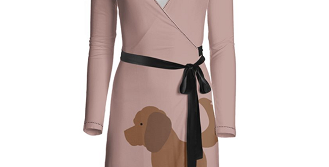 Big Dog Wrap Dress - Clever Cockapoos