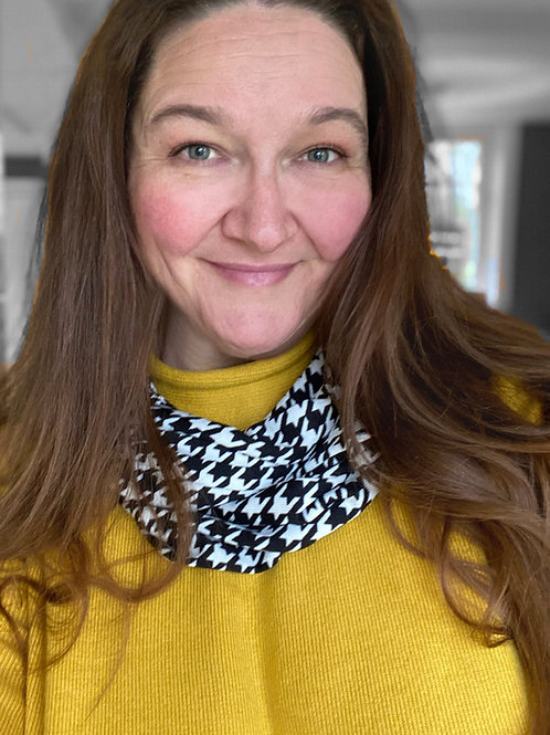 Houndstooth Endless Scarf