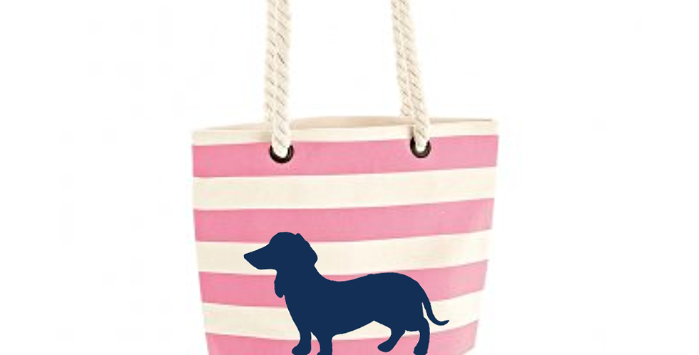 Boardwalk Shoulder Bag - Pink Stripe