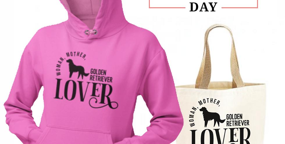 Golden Retriever Lover - Shopper & Hoodie Bundle
