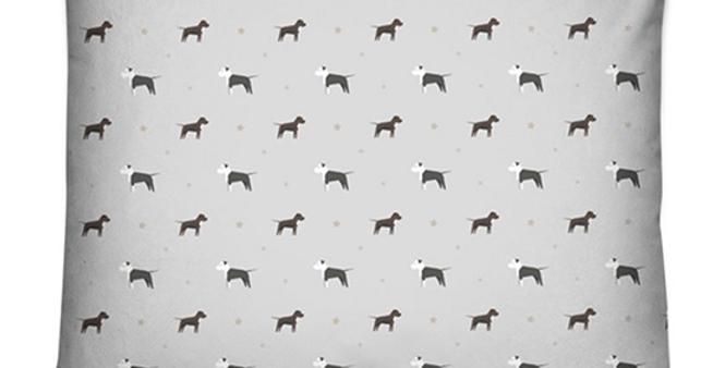 Grey Dog Bed Cushion - Sassy Staffies