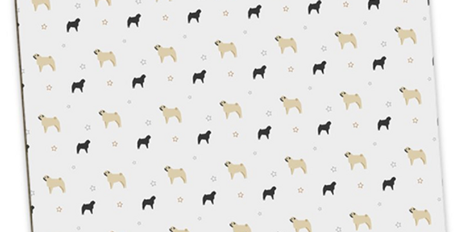 Grey Large Placemat Set (4) - Perfectly Pug