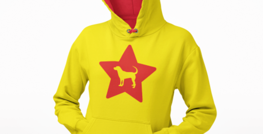 Bright Star Yellow/Red Hoodie - ANY BREED
