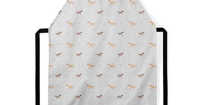 Grey Ultra Suede Apron - Cute Cavapoos
