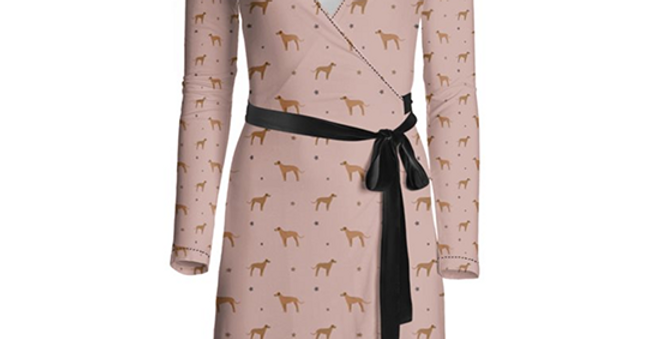 Multi Print Wrap Dress - Regal Ridgebacks