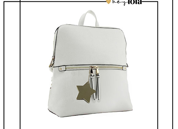 Dazzling Star White Rucksack