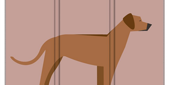 Room Divider Folding Screen - Regal Ridgebacks