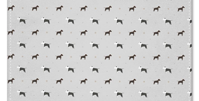 Grey Multi Pocket Squares (2) - Sassy Staffies