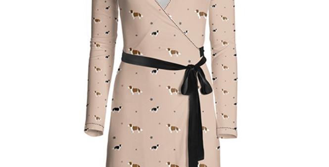 Multi Print Wrap Dress - Scrumptious Springers