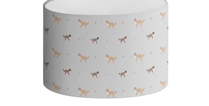Oval Lampshade - Cute Cavapoos