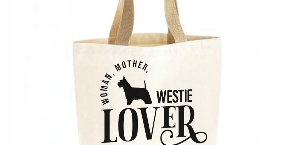 Classic Jute & Canvas Westie Shopper