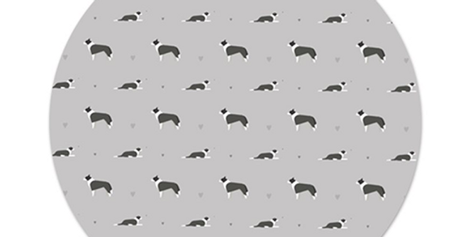 Grey Platter Charger - Cool Collies