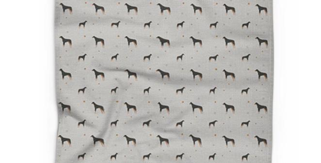 Cotton Linen Tea Towel - Dazzling Dobermans