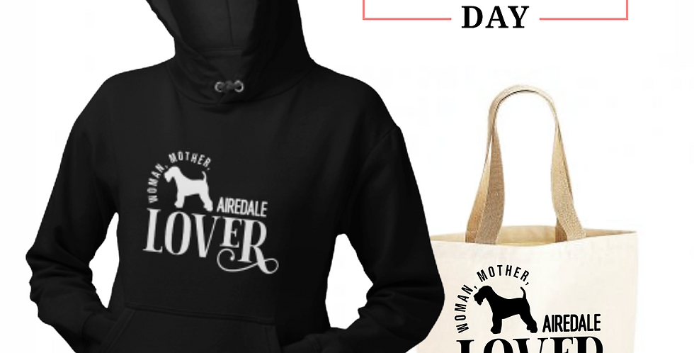 Airedale Lover - Shopper & Hoodie Bundle