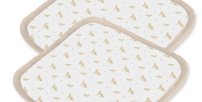 Grey Ultra Suede Pot Holders (2) - Goldens Galore