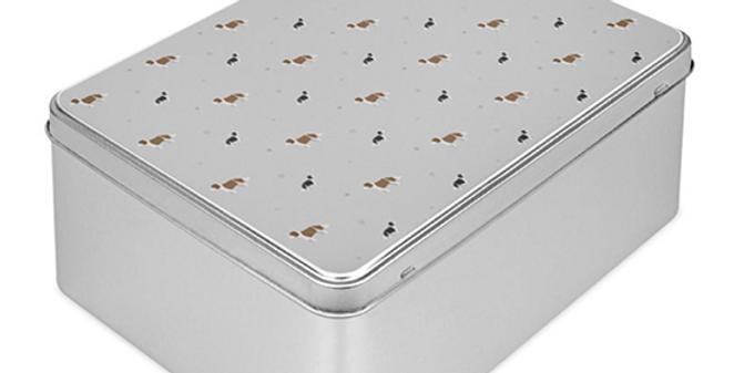 Grey Storage Tin - Scrumptious Springers