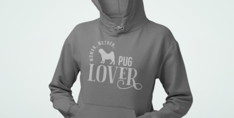 Woman, Mother Pug Lover - Hoodie