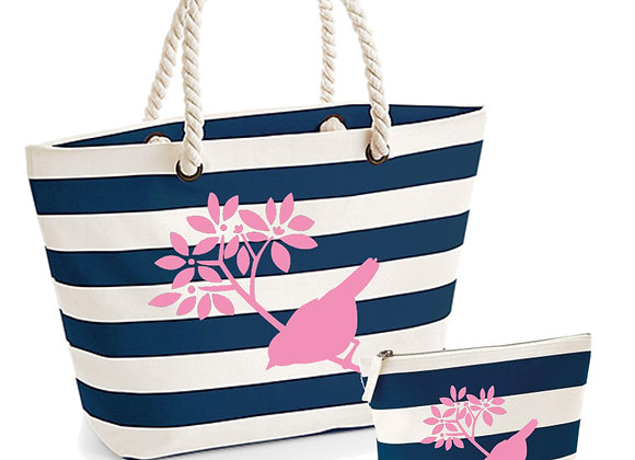 Twiggy Bird Beach Bag Set
