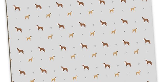 Grey Large Placemat Set (4) - Bounding Boxers