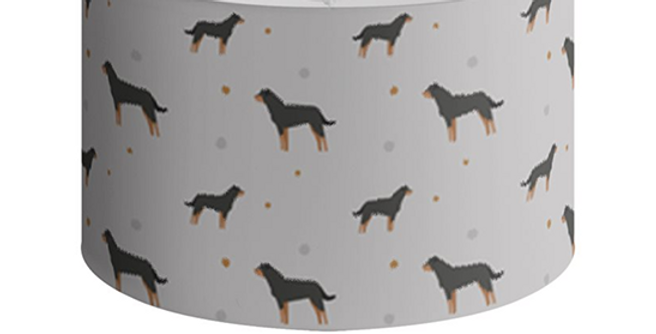 Grey Large Round Ceiling Shade - Rock n Roll Rotties